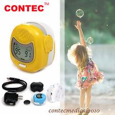 CONTEC Pulso Dedo Oxigeno Pulsioximetro oximeter Pulsómetros SPO2 PR niño child