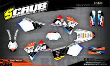 SCRUB KTM EXC 125 200 250 300 400 520 1998-2002 '98 '02 Grafik Dekor-Set