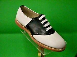 Classic School Leather Saddle Shoes Black/white US Women's sizes 5-12 (#200)