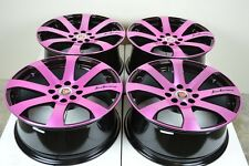 17 pink Wheels Rims Cobalt Civic Accord Corolla Cooper Spectra Ion 4x100 4x114.3
