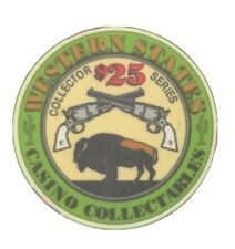 Western States Casino Collectables $25.00 Collector Series Chip