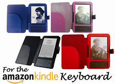 for AMAZON KINDLE 3 KEYBOARD MODEL LEATHER CASE COVER WALLET