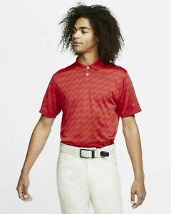 NWT Men's Nike Dry Vapor Golf Polo Shirt Red SZ ST/small tall $75 CI9780-687