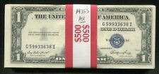 (100) 1935 $1 ONE DOLLAR BLUE SEAL SILVER CERTIFICATES ABOUT UNCIRCULATED (C)