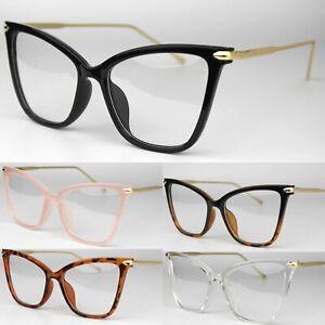 Large Clear Lens Cat Eye Fashion Glasses Women's 50s Vintage Retro