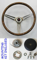 1967-1968 Grand Prix GTO Firebird Grant Wood Walnut Steering Wheel 15""