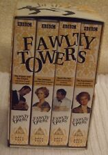 "THE COMPLETE FAWLTY TOWERS 4 VIDEO VHS PAL ""BOX SET"" JOHN CLEESE ANDREW SACHS"