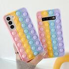 For Samsung S21 S20 Note 20 10 9 Pop Fidget Toys Push It Bubble Phone Case Cover