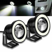 "2.5/3/3.5"" COB Fog Light Projector White Angel Eye LED Halo Ring DRL Drive Bulbs"