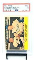 1958 Topps HOF Stars WILLIE MAYS & DUKE SNIDER Baseball Card PSA 3 VERY GOOD