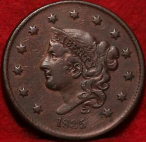 1835 Head of 1836 Philadelphia Mint Copper Coronet Head Large Cent