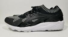 Asics Gel Kayano Knit Mens Cross Training Running Shoes Black White Size 10.5