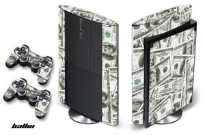 Skin Decal Wrap For PS3 Super Slim PlayStation 3  Console + Controller Ballin
