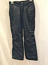 Girl's Size 14 Snowboard Ski Pants Black Cute Rinestone Embellishments