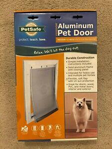 PetSafe Aluminum Pet Door - Medium - New - Dog, Cat, 1-40 lbs