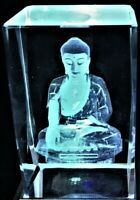 3D LADY BUDDHA CRYSTAL CALLING THE EARTH TO WITNESS THE TRUTH Laser+4 LIGHT NEW