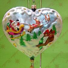 Valentine Christopher Radko Prototype Santa Coming to Town Glass Ornament