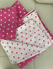 Pottery Barn Kids Pink Heart Twin Duvet Cover And Pillow Sham Excellent