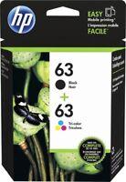 HP #63 Combo Ink Cartridges 63 Black & Color NEW GENUINE