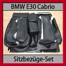 BMW E30 Cabrio Sitzbezüge-Set Lederausstattung Ledersitze Sitzbezüge Sitze NEU!