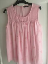 GEORGE GIRLS BEAUTIFUL SOFT PINK TOP AGE 11-12