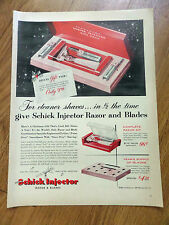 1952 Schick Injector Razor & Blades Set Ad
