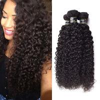 Naturel Noir Tissage Kinky Curly Bresilien Extension Cheveux Humain Hair 3 Packs