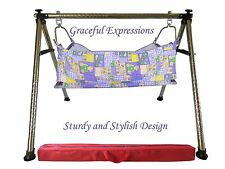 Purple BabyCradle Swing/Jhoola/Ghodiyu,with 2 diff style of Hammock+Zip-NetCover