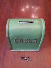 alte Spardose Sparbüchse Cassa mit Schlüssel