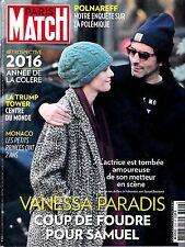 PARIS MATCH N° 3526. dec 2016. KATHLEEN KENNEDY. TRUMP TOWER. VANESSA PARADIS.