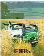 Citroen 2CV 6 & Dyane 6 Weekend 1975-76 UK Market Sales Brochure