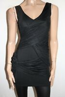 ROMP JEANS Brand Black Mesh Lace Ruched Bodycon Dress Size S BNWT #SC106