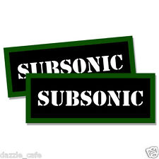 """SUBSONIC Ammo Can 2x  Labels Ammunition Case 3""""x1.15"""" stickers decals 2 pack"""