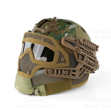 Tactical Protective Googles G4 System Full Face Mask Helmet Molle Paintball MC