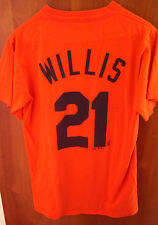 DETROIT TIGERS Dontrelle Willis small T shirt orange tee D-Train pitcher 2007