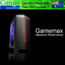 Gamemax Gaming Desktop PC Black Computer Micro ATX Case With Window home office.