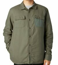 NWT MENS FOX RACING ERRATICS OLIVE WOVEN LINED QUILTED SHIRT JACKET XL X-LARGE
