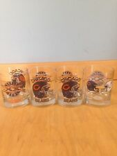 4 Chicago Bears 1985 1986 Super Bowl XX Champion Whiskey Tumbler Glasses L-2 *
