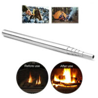 Pocket Bellow Collapsible Fire Blowing Tube Tools Camping Outdoor Survival Tool