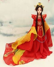 NEW RARE OOAK Chinese Collectible Toy Dolls RED Ethereal Fairy/Elf Free US ship