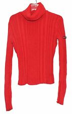 938a8c430f4d41 Donna Karan DKNY Jeans Brick Red Cotton Blend Cowl Neck Womens Sweater Size  M