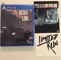 Limited Run Games LRG #14 Breach & Clear Deadline PS4 sealed 3000 copies made