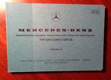 MERCEDES w123 coupe catalogo parti parts catalog W 123 280ce 280 C CE 230 C