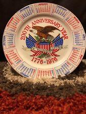 Rare E Pluribus Umum 200th Anniversary Year Plate Calendar