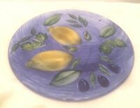 Vintage St. Michael Marks & Spencer England Hand Decorated Cake Plate Lemons