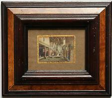 """B.PETIT GOUACHE """"EGLISE DE BETHLEEM 1858"""" dédiée à ALICE BERAUD pour son mariage"""