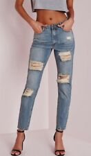 Missguided riot retro high rise ripped mom vintage Jeans Damen Gr 36 A5053