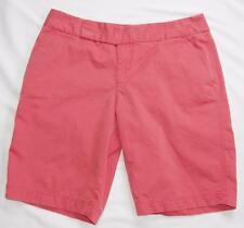 Womens Eddie Bauer Bermuda Shorts 8 Coral Vashon Fit