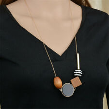 Fashion Geometric Drop Dangle Pendant Long Chain Sweater Necklace Women Jewelry