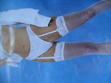 strapsstrümpfe ...mit elastischem zierrand.. breite spitze ..schwarz...91/2-10